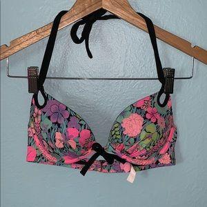 Victoria's Secret 34B pink push-up bikini top